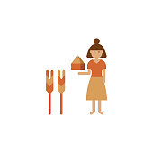 Ancient, baker color icon. Element of color bakery illustration. Premium quality graphic design icon. Signs and symbols collection icon for websites, web design, mobile app on white background