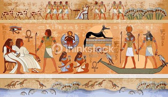 Ancient egypt scene mythology egyptian gods and pharaohs ancient egypt scene mythology egyptian gods and pharaohs hieroglyphic carvings on the exterior publicscrutiny Image collections