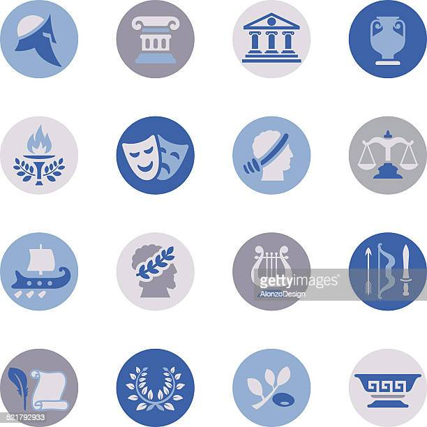 Ancient Greece Icon Set
