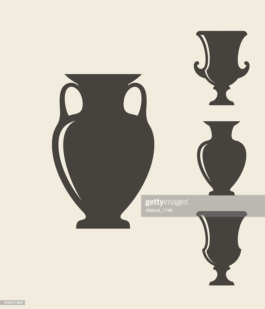 Ancient Greek vases : Vector Art