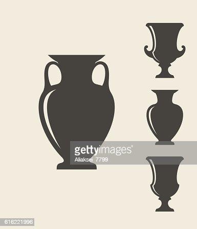 Ancient Greek vases : Vector Art