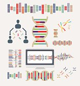 DNA and Chromosomes Icons