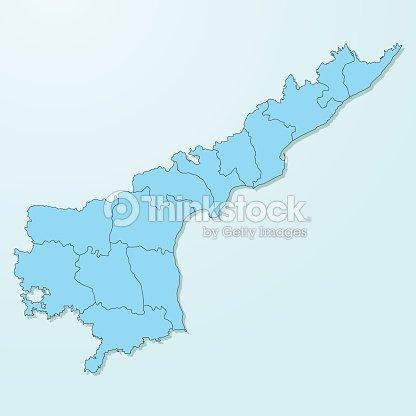 Andhra Pradesh Blue Map On Degraded Background Vector Vector Art ...