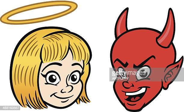 Engel und Teufel Kinder