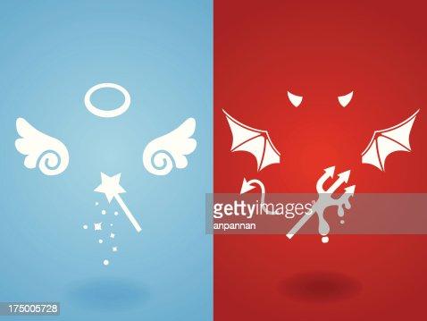 Angel & Devil Concept - Vector File EPS10 : stock vector