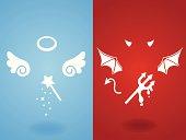 Angel & Devil Concept - Vector File EPS10