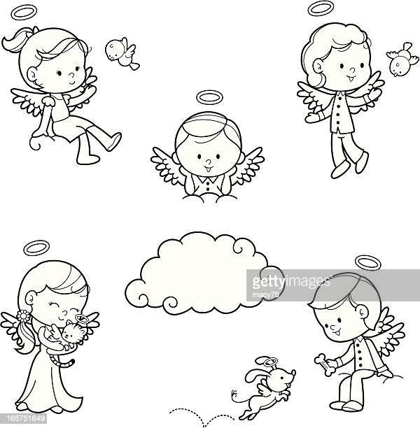 Engel Kinder malen set