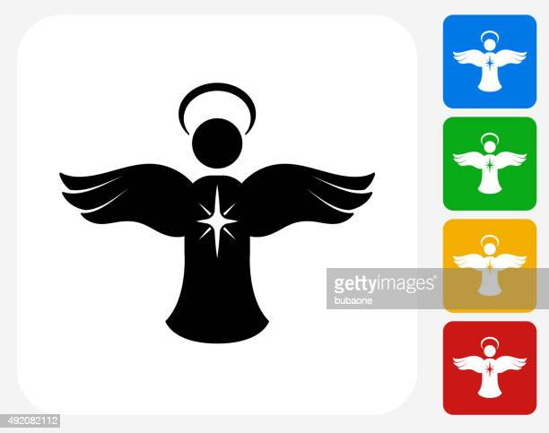 Angel Ornament-Symbol flache Grafik Design