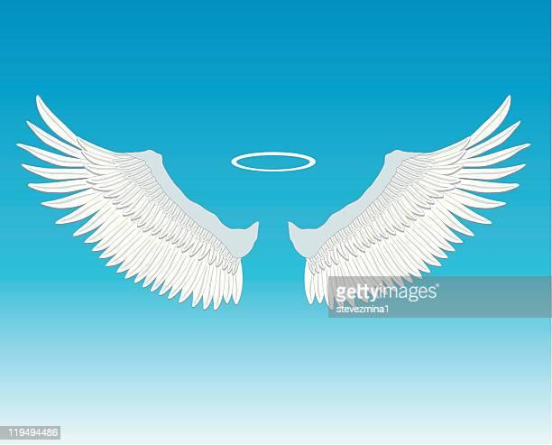 Engel Flügel und Heiligenschein