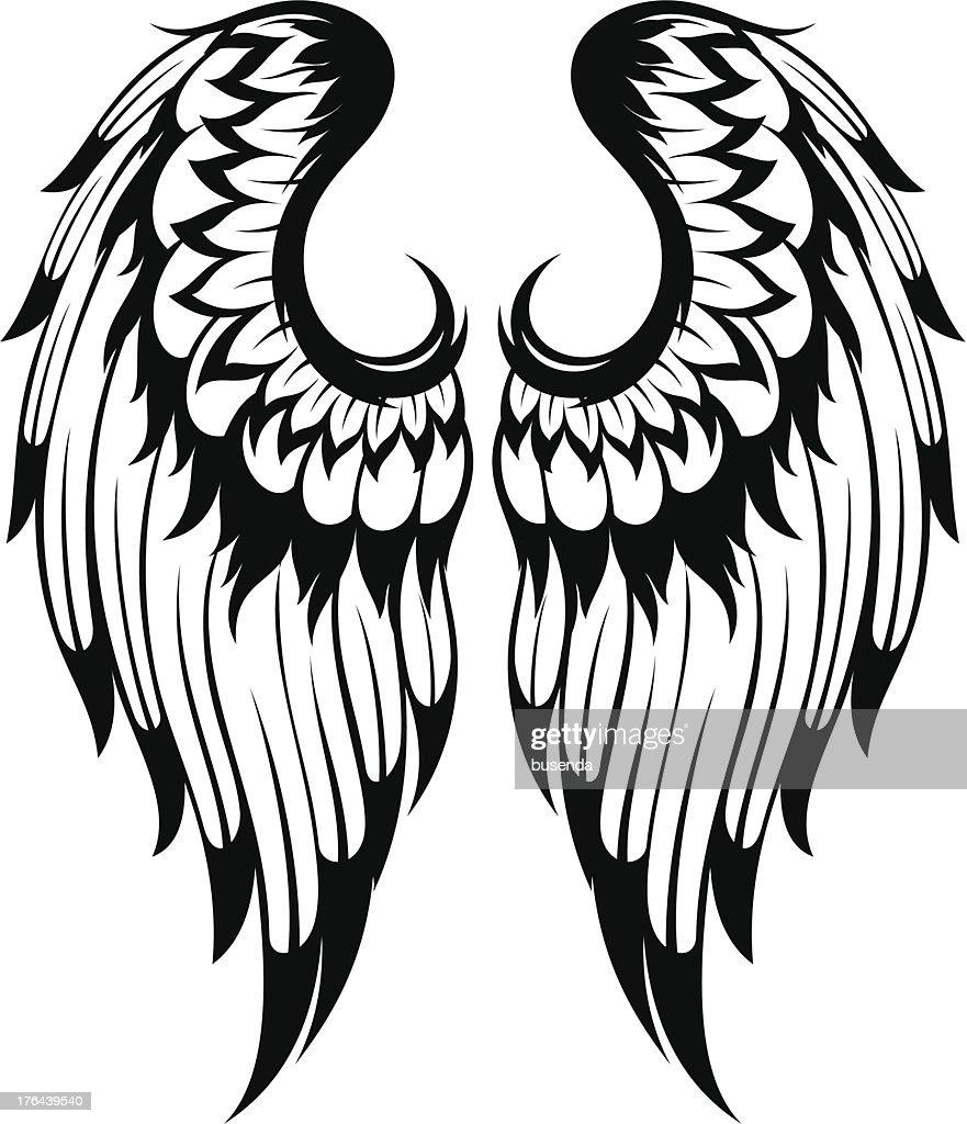 angel wings vector art thinkstock rh thinkstockphotos com angel wings vector free download angel wings vector free