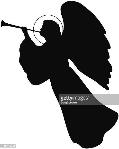 Angel mit Trompete