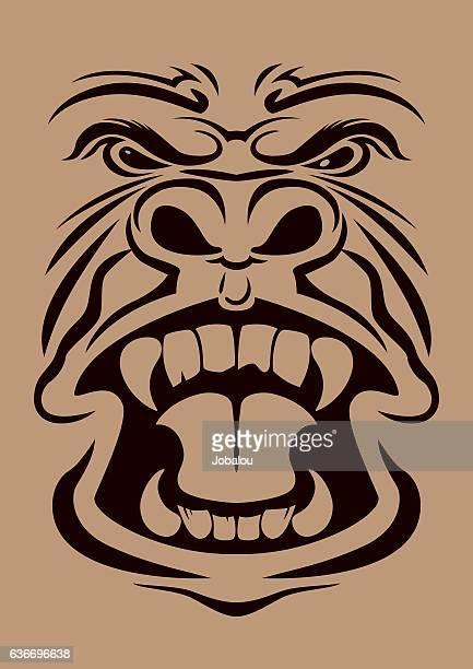 Anger Gorilla Head