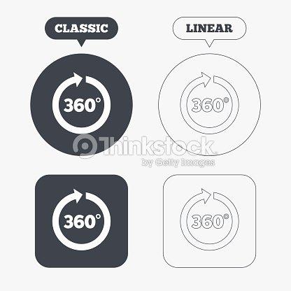 Angle 360 Degrees Sign Icon Geometry Math Symbol Vector Art Thinkstock