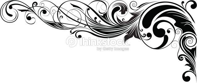 angle fleuri noir clipart vectoriel thinkstock. Black Bedroom Furniture Sets. Home Design Ideas