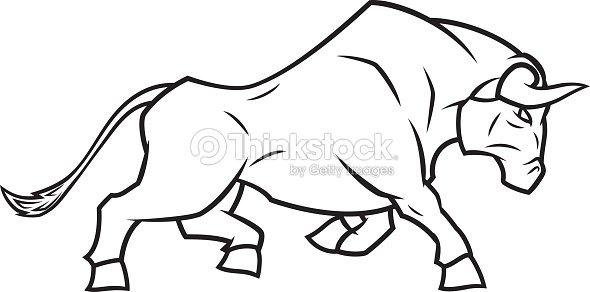 En col re bull course clipart vectoriel thinkstock - Dessin de toro ...