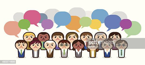 Angry business people withs Speech Bubbles