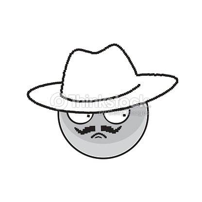 Angry Cartoon Face Expression People Emoticon Emoji stock