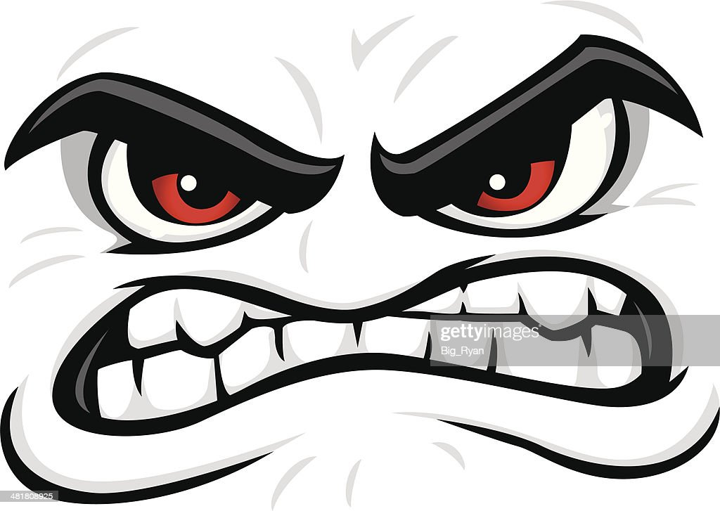 angry face vector art getty images