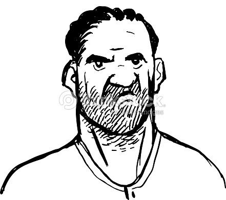 Angry Man Cartoon Sketch Vector Vector Art Thinkstock