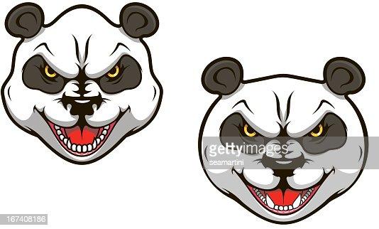 Wütende panda bear : Vektorgrafik
