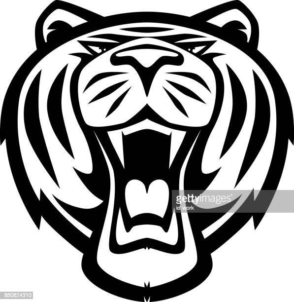 angry tiger roaring