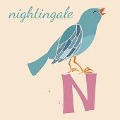 Animal & Animals. N for the nightingale