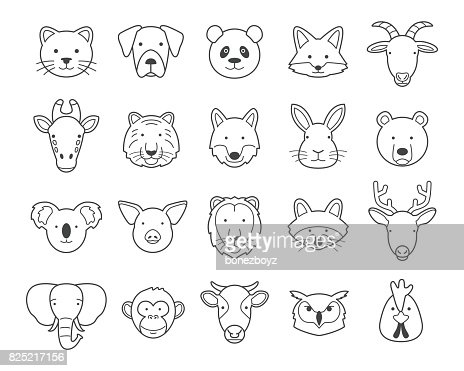 Animal heads : stock vector