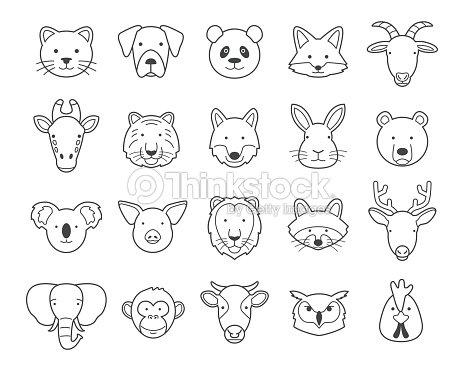 Animal heads : stock vector