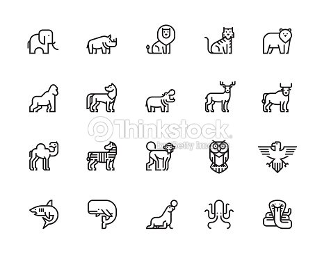 Iconos de animales : arte vectorial