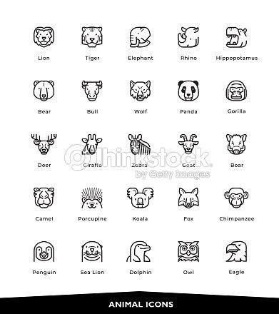 Iconos de animales : arte vectorial
