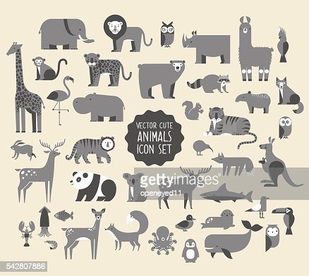 Animal Vector Icon Set. : Arte vettoriale