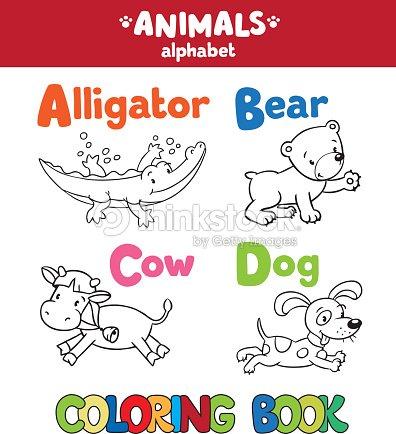 Animals Alphabet Or Abc Coloring Book Vector Art | Thinkstock