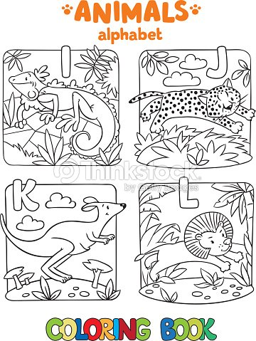 Animals Alphabet Or Abc Coloring Book Vector Art | Thinkstock