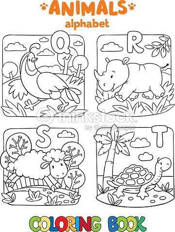 Animals Alphabet Or Abc Coloring Book stock vector - Thinkstock