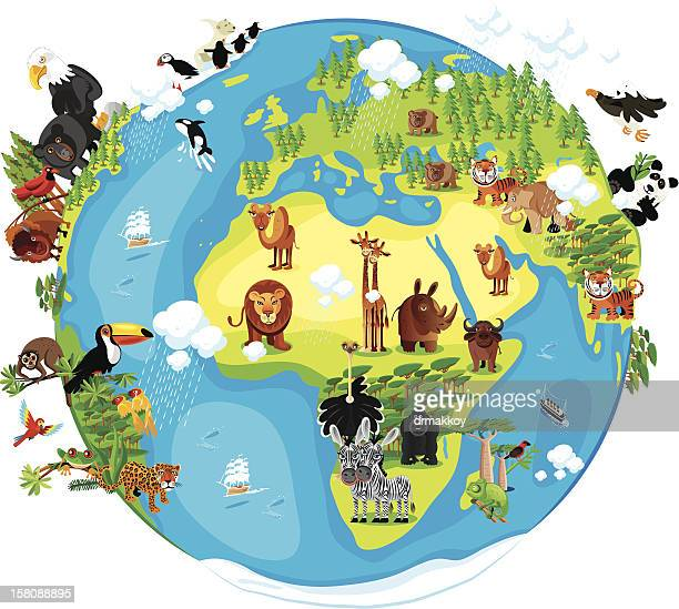 Animals Cartoon of World