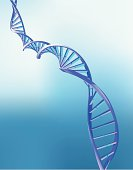 DNA double helix - detailed vector illustration. Background is a gradient mesh.