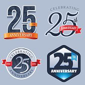 A Set of Symbols Representing a Twenty-Fifth Anniversary/Jubilee Celebration