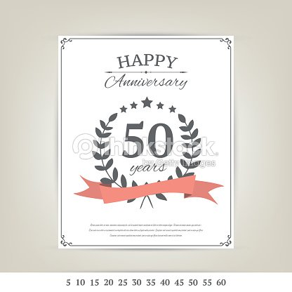 Anniversary Card Template Vector Art Thinkstock