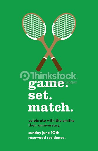 Anniversary invitation card with tennis rackets vector art thinkstock anniversary invitation card with tennis rackets vector art stopboris Image collections