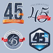 A Set of Symbols Representing a Forty-Fifth Anniversary/Jubilee Celebration