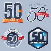 A Set of Symbols Representing a Fiftieth Anniversary/Jubilee Celebration