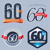 A Set of Symbols Representing a Sixtieth Anniversary/Jubilee Celebration