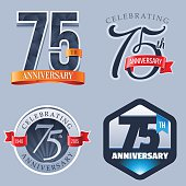 A Set of Symbols Representing a Seventy-Fifth Anniversary/Jubilee Celebration