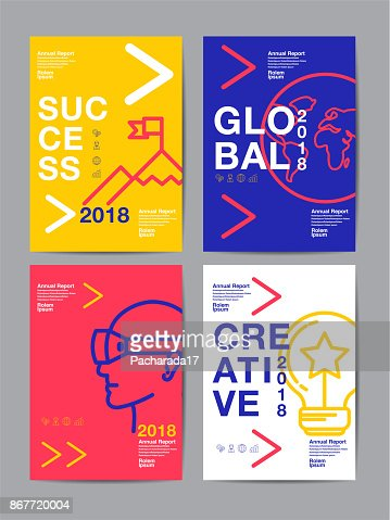 annual report 2018 ,future, business, template layout design, cover book. vector colorful, infographic, abstract flat background. : Vector Art