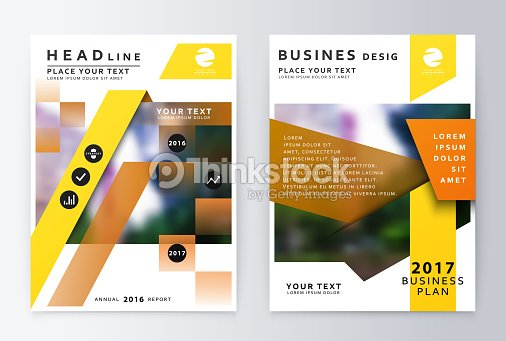 Annual Report Brochure Business Plan Flyer Design Template Vector - Business plan design template