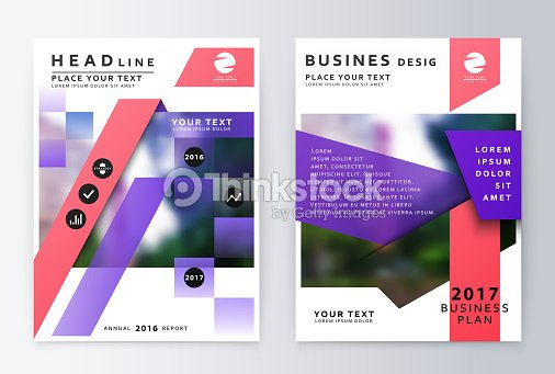 Annual Report Brochure Business Plan Flyer Design Template Vector - Annual report design templates 2016