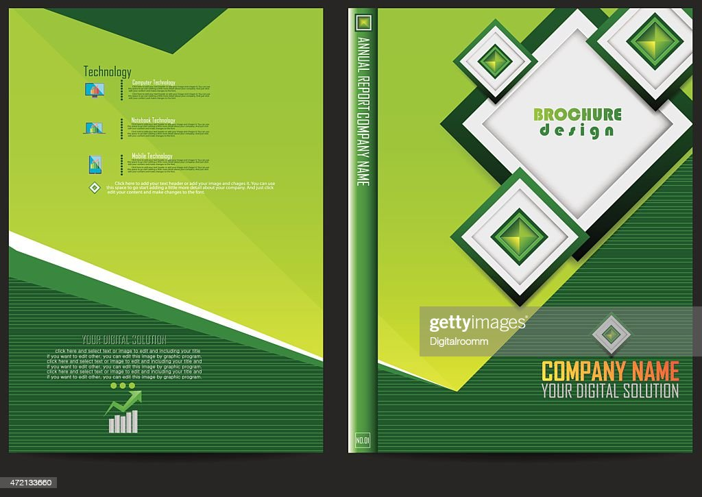 Annual Report Cover Design : Vector Art