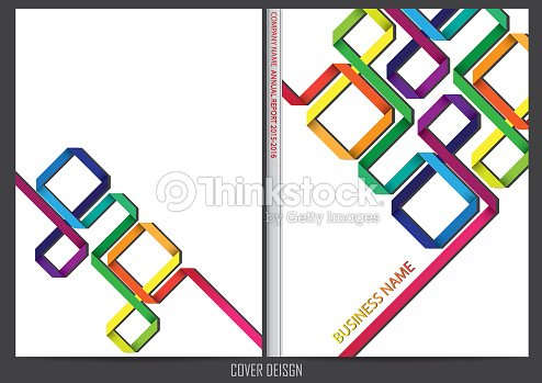 annual report cover design vector art thinkstock