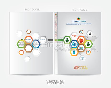 annual report cover design vector art