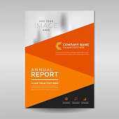 Multipurpose company annual report design in A4 format size